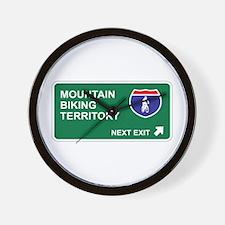 Mountain, Biking Territory Wall Clock
