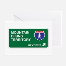 Mountain, Biking Territory Greeting Card