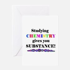 STUDYING CHEMISTRY gives you Greeting Card