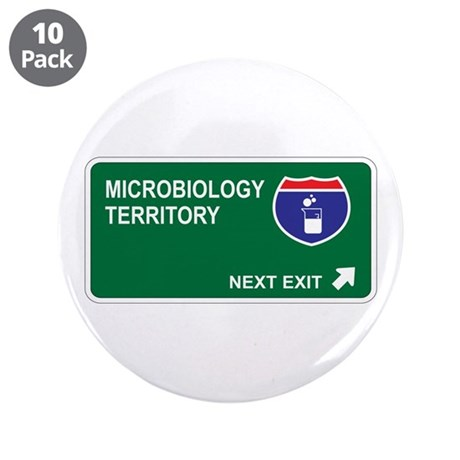 "Microbiology Territory 3.5"" Button (10 pack)"