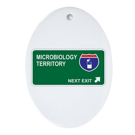 Microbiology Territory Oval Ornament