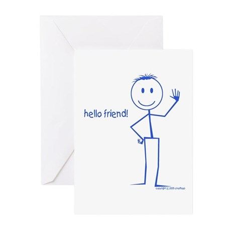 http://i3.cpcache.com/product/29629027/hello_friend_whats_new_smile_happy_face_cards_6.jpg?height=460&width=460&qv=90 Hello New Friend