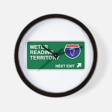 Meter, Reading Territory Wall Clock