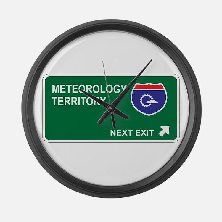 Meteorology Territory Large Wall Clock