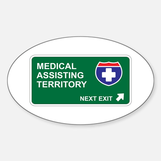 Medical, Assisting Territory Oval Decal