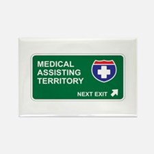 Medical, Assisting Territory Rectangle Magnet