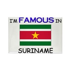 I'd Famous In SURINAME Rectangle Magnet