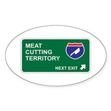 Meat, Cutting Territory Oval Decal