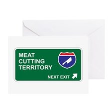 Meat, Cutting Territory Greeting Card
