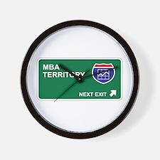 MBA Territory Wall Clock
