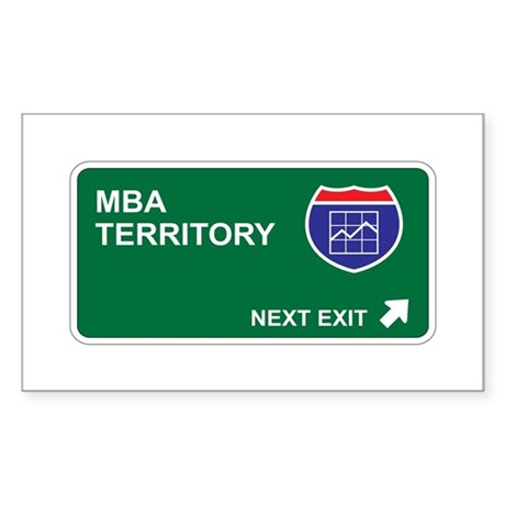 MBA Territory Rectangle Sticker