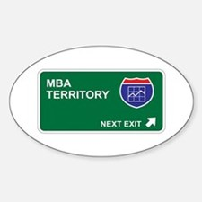 MBA Territory Oval Decal