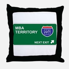 MBA Territory Throw Pillow