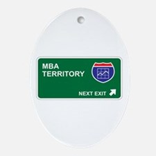 MBA Territory Oval Ornament