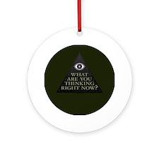 Green Eye Pyramid Disc Ornament (Round)