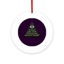 Purple All Seeing Eye Pyramid Ornament (Round)