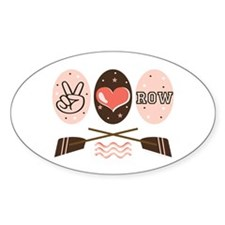 Peace Love Row Crew Oval Decal