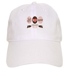 Peace Love Row Crew Baseball Cap