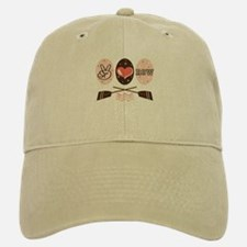 Peace Love Row Crew Baseball Baseball Cap