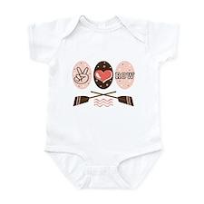 Peace Love Row Crew Infant Bodysuit