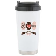 Peace Love Row Crew Thermos Mug
