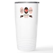 Peace Love Row Crew Travel Coffee Mug