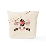 Peace Love Row Crew Tote Bag