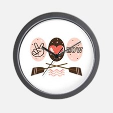 Peace Love Row Crew Wall Clock