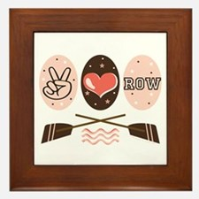 Peace Love Row Crew Framed Tile