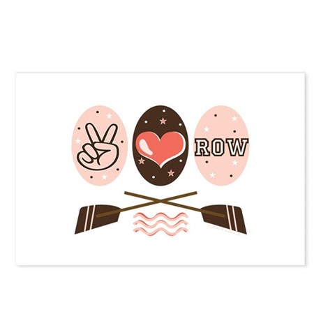 Peace Love Row Crew Postcards (Package of 8)