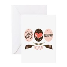 Peace Love Row Crew Greeting Card