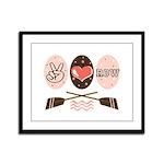 Peace Love Row Crew Framed Panel Print