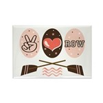 Peace Love Row Crew Rectangle Magnet (100 pack)