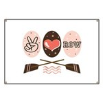 Peace Love Row Crew Banner