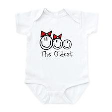Oldest of 3 (GGB) RED BOWS Infant Bodysuit