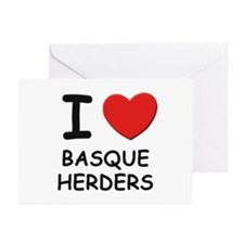 I love BASQUE HERDERS Greeting Cards (Pk of 10)