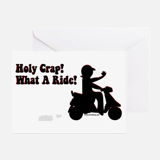 Holy Crap It's a Scooter Greeting Card