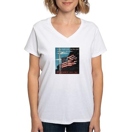 Pearl Harbor Day Women's V-Neck T-Shirt