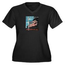 Pearl Harbor Day Women's Plus Size V-Neck Dark T-S