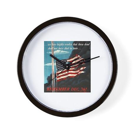 Pearl Harbor Day Wall Clock