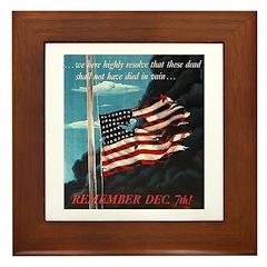 Pearl Harbor Day Framed Tile
