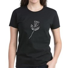 Chrome Stemmed Rose Tee