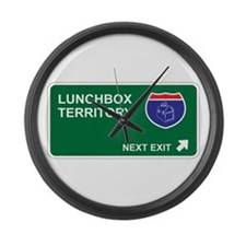 Lunchbox Territory Large Wall Clock