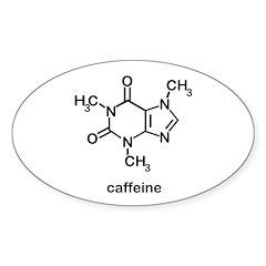 Caffeine Molecule Sticker (Oval 50 pk)