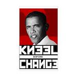 Obama Kneel Before Change Rectangle Sticker