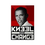 Obama Kneel Before Change Rectangle Magnet (10 pac