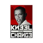 Obama Kneel Before Change Rectangle Magnet (100 pa