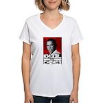 Obama Kneel Before Change Women's V-Neck T-Shirt