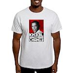 Obama Kneel Before Change Light T-Shirt