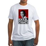 Obama Kneel Before Change Fitted T-Shirt